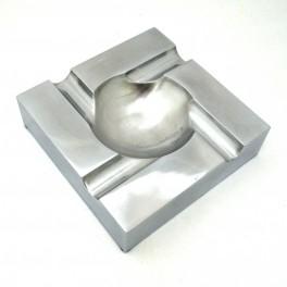 Cendrier 4 cigares aluminium carré