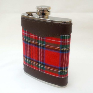 Flasque whisky 6 Oz Scottish red