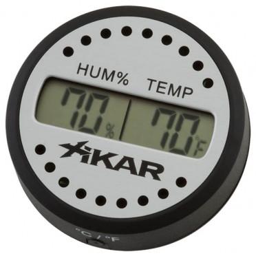Thermo-Hygromètre cigare XIKAR digital rond
