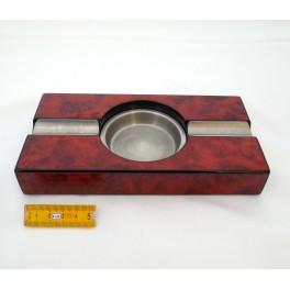 Cendrier métal et bois 2 fumeurs