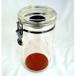Jarre à cigare acrylique transparente  humidifiée